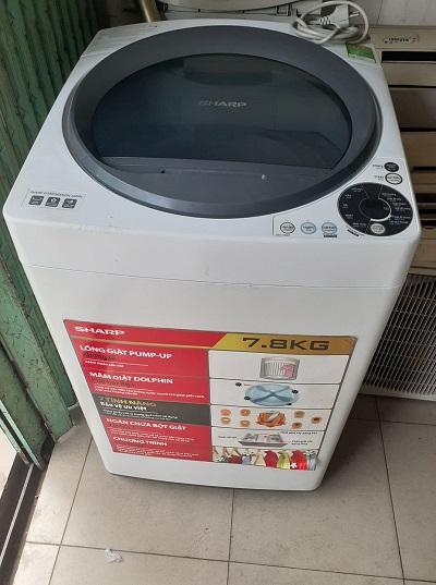 Máy giặt sharp 7.8kg new 95%