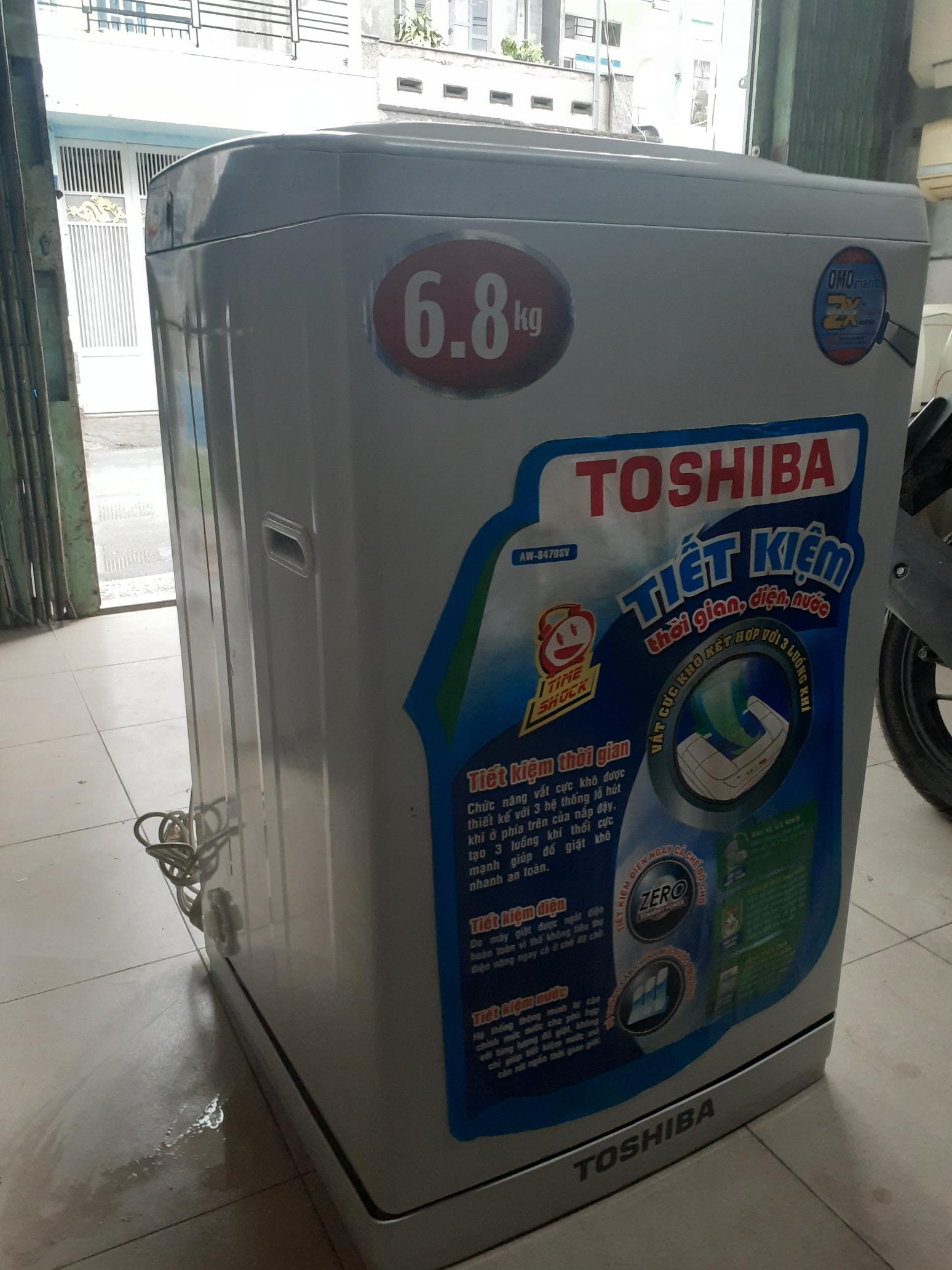 Máy giặt cũ Toshiba 6.8 kg còn mới 90%
