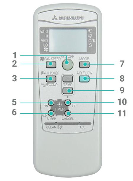 Bán điều khiển máy lạnh Mitsubishi hcm