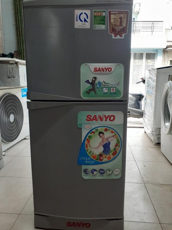 Tủ lạnh cũ sanyo 125 lít