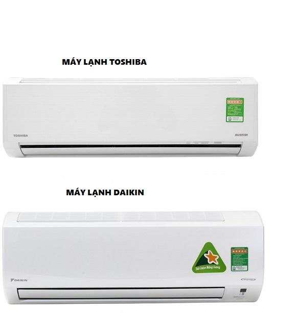 So sánh hãng máy lạnh Daikin và Toshiba