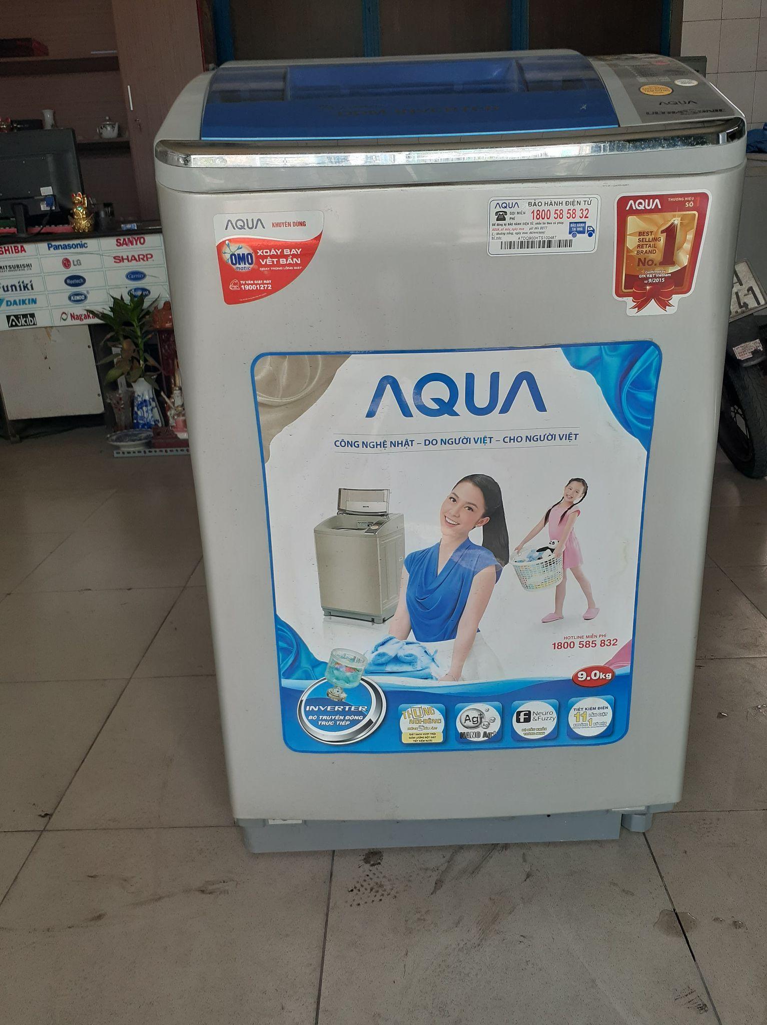 Máy giặt Aqua inverter 9kg new 98%