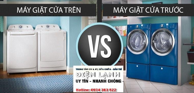 Tư Vấn : Nên mua máy giặt cửa trên hay máy giặt cửa trước