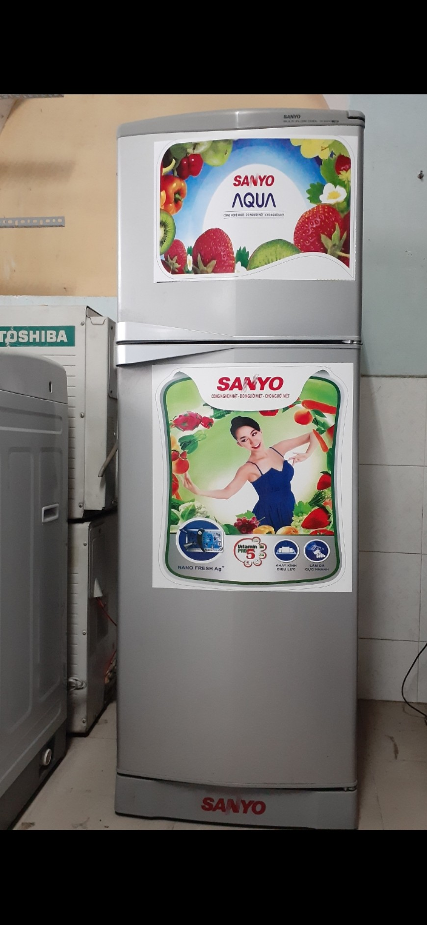 Tủ lạnh cũ Sanyo 120l