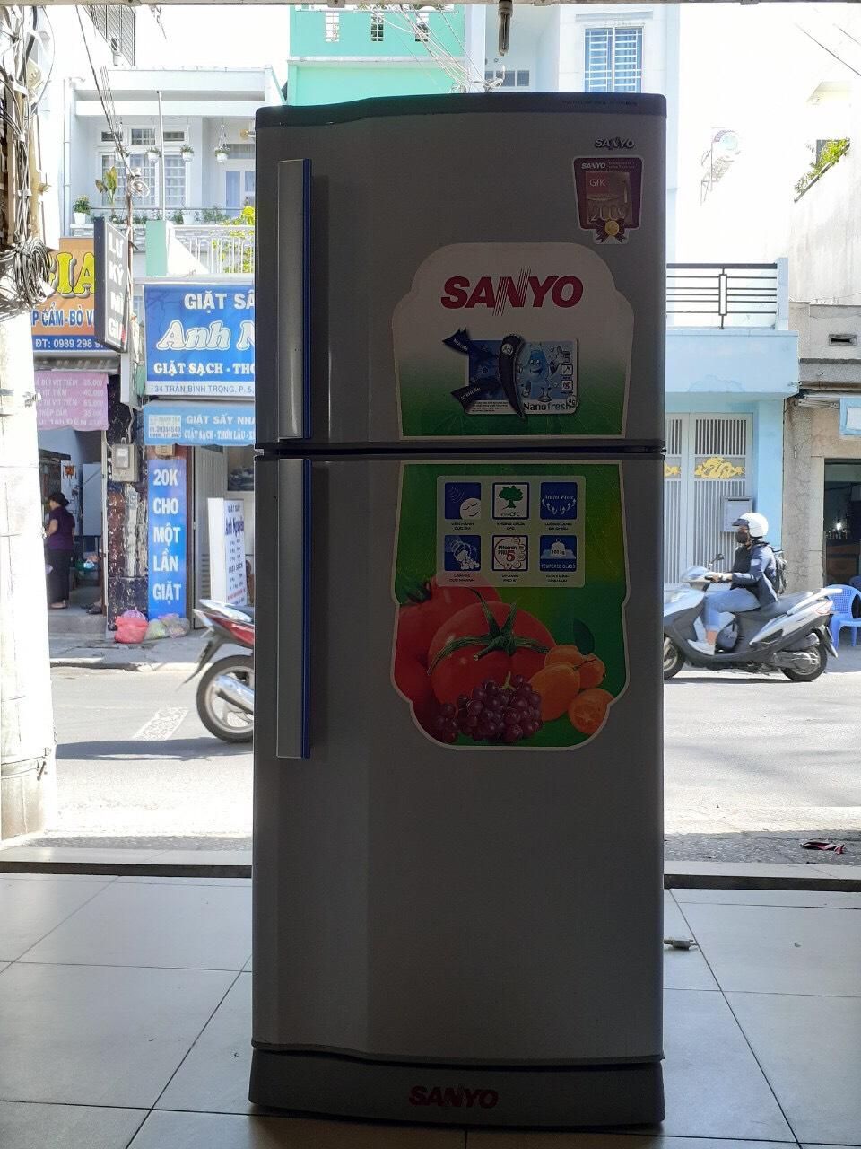 Tủ lạnh cũ sanyo 140l